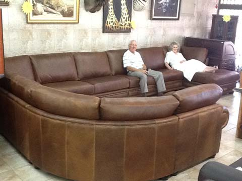 Second Hand Brown Leather Sofa Setting Brown Leather